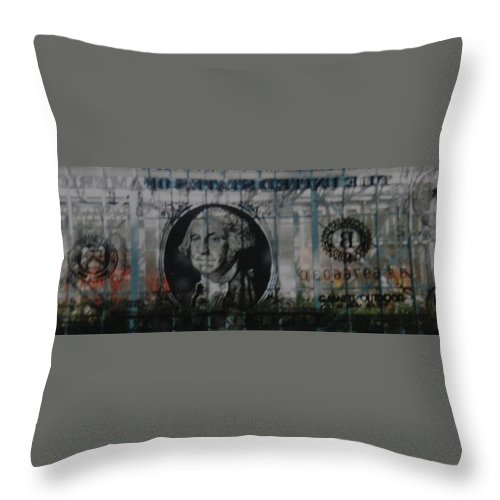 Park Throw Pillow featuring the photograph Dollar Bill by Rob Hans