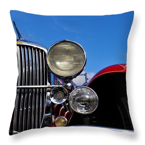 Vintage Throw Pillow featuring the photograph Duesenberg by Tim Nyberg