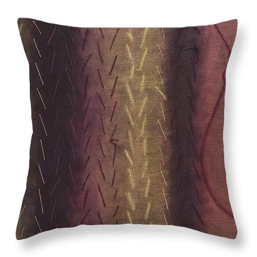 Acrylic Throw Pillow featuring the painting Embodiment - Divine Source by Kerryn Madsen- Pietsch