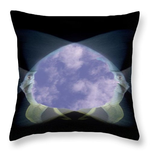 Fish Throw Pillow featuring the photograph 2 Faced Fishy by Tim Allen