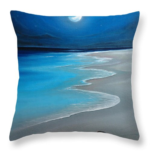 Seascape Art Throw Pillow featuring the painting First Born by Angel Ortiz