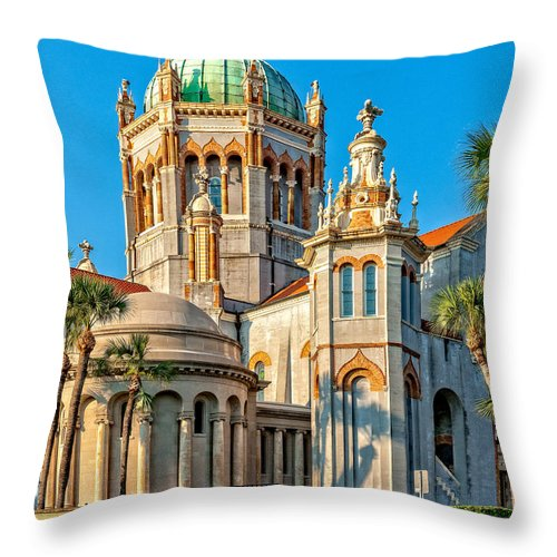 Structure Throw Pillow featuring the photograph Flagler Memorial Presbyterian Church 3 by Christopher Holmes