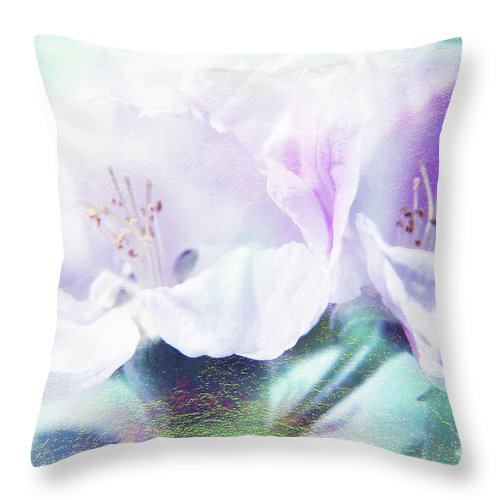 Flower Throw Pillow featuring the photograph Flowering by Lali Kacharava