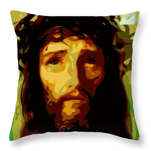 Jesus Christ Throw Pillow featuring the photograph Forgive Them Father by Ed Weidman