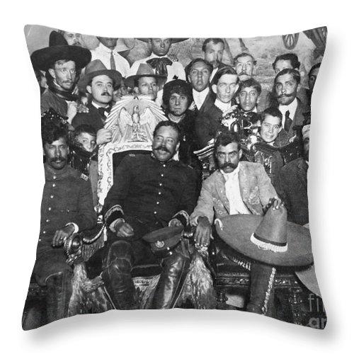 1914 Throw Pillow featuring the photograph Francisco Pancho Villa by Granger
