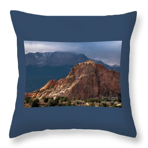 Colorado Springs Throw Pillow featuring the photograph Garden Of The Gods by Jennifer Mitchell