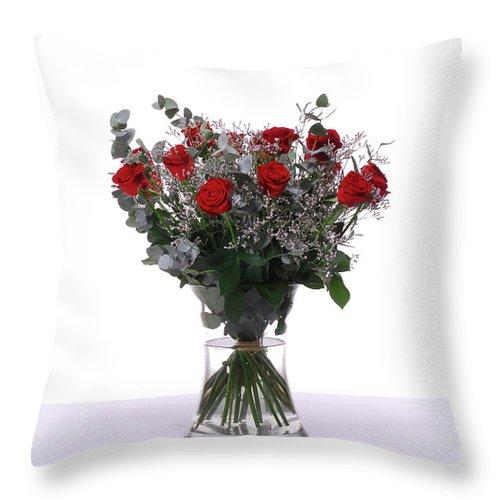 Flower Throw Pillow featuring the photograph House Plant by Eran Turgeman