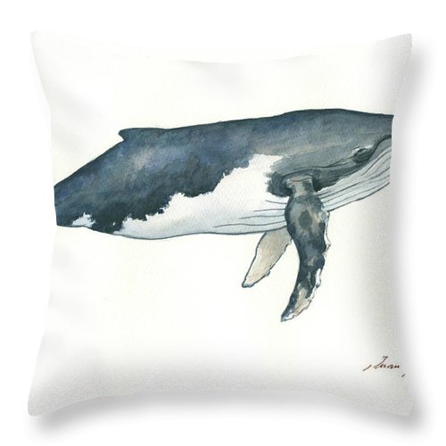 Humpback Whale Throw Pillow For Sale By Juan Bosco
