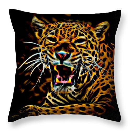 Jaguar Throw Pillow featuring the photograph Jaguar by David Pine