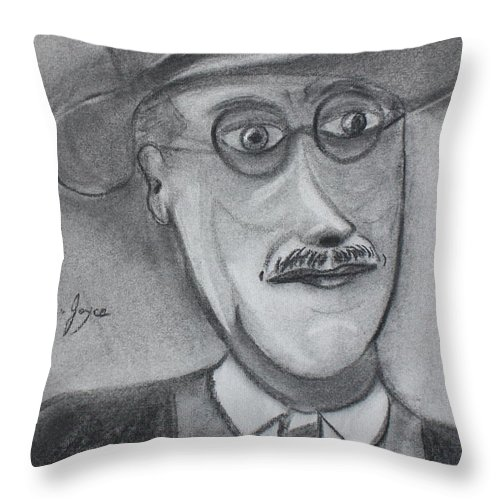 Art Throw Pillow featuring the painting James Joyce by Roger Cummiskey