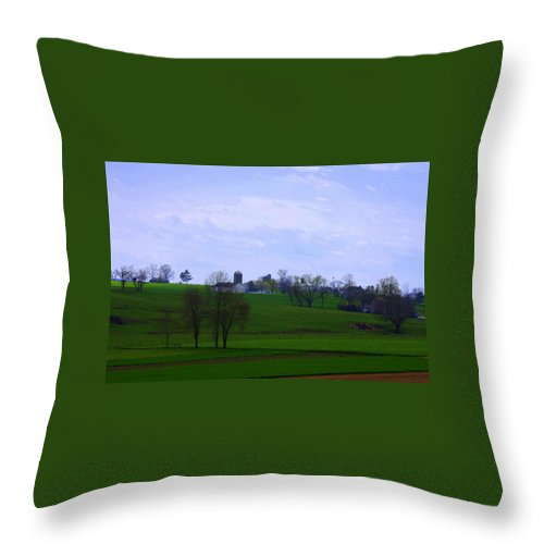 Lancaster April 2014 Throw Pillow featuring the photograph Lancaster by William Rogers