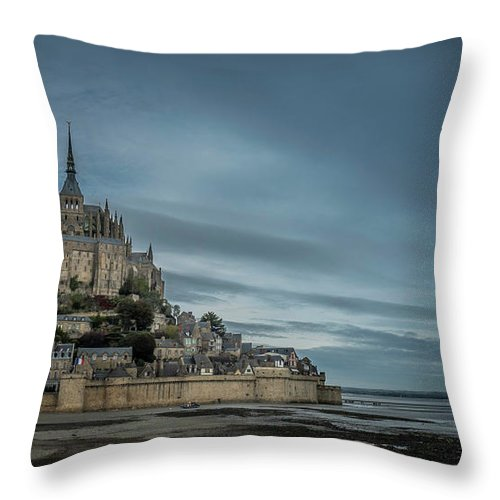 Water Throw Pillow featuring the photograph Le Mont Saint Michel by Jason Steele