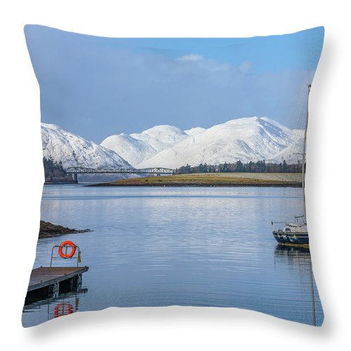 Loch Leven Throw Pillow featuring the photograph Loch Leven - Scotland by Joana Kruse