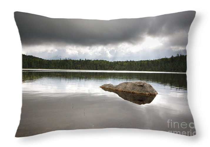 Franconia Notch Throw Pillow featuring the photograph Lonesome Lake - White Mountains New Hampshire Usa by Erin Paul Donovan