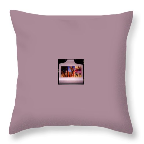 Canvas Throw Pillow featuring the painting Love Hurts by Charles Stuart