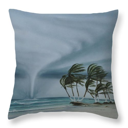 Throw Pillow featuring the painting Mahahual by Angel Ortiz