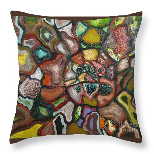 Abstract Paintings Paintings Abstract Art Paintings Throw Pillow featuring the painting Mindscape by Seon-Jeong Kim
