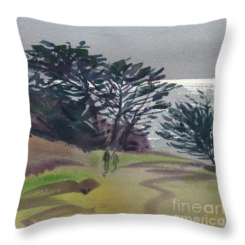 Plein Air Throw Pillow featuring the painting Miramonte Point 1 by Donald Maier