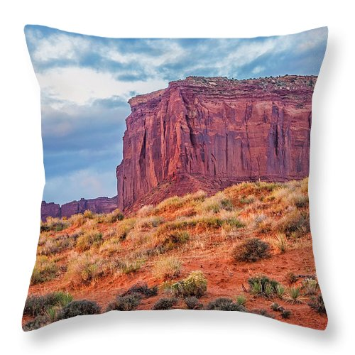 Monument Valley Utah Throw Pillow For Sale By Tom Zeman