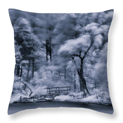 Black Throw Pillow featuring the photograph Mystic Parallel World by Serhii Simonov