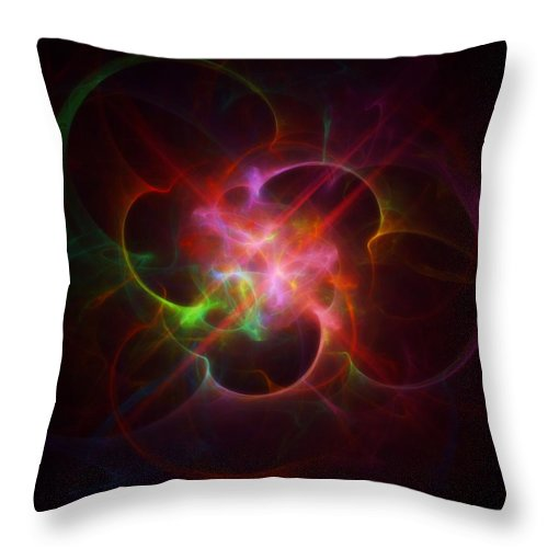 Nebula Throw Pillow featuring the painting Nebula by Raphael Terra
