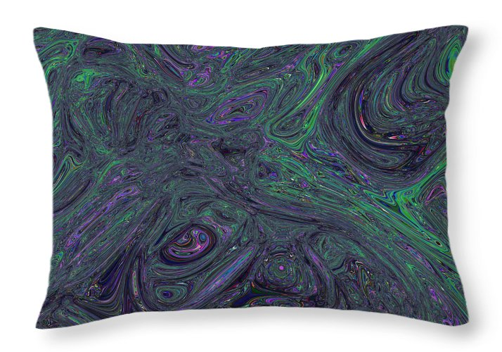 Abstraction Throw Pillow featuring the digital art Neural Abstraction #1 by Evgeniy Babkin