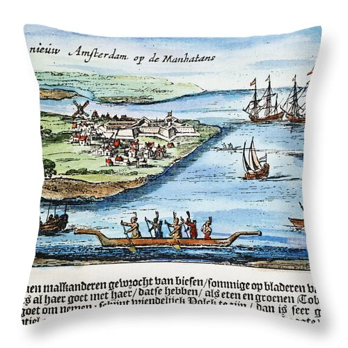 1651 Throw Pillow featuring the photograph New Amsterdam by Granger