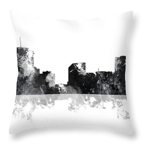 New Orleans Louisiana Skyline Throw Pillow featuring the digital art New Orleans Louisiana Skyline by Marlene Watson