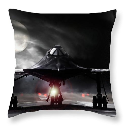 Aviation Throw Pillow featuring the digital art Night Moves by Peter Chilelli