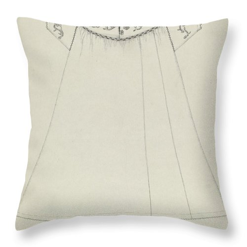 Throw Pillow featuring the drawing Nightgown by Evelyn Bailey