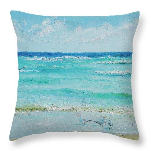 Ocean Throw Pillow featuring the painting Ocean Breeze by Jan Matson