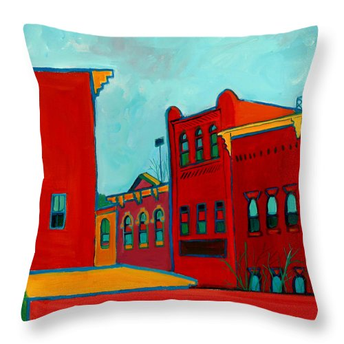 City Throw Pillow featuring the painting Opera House by Debra Bretton Robinson