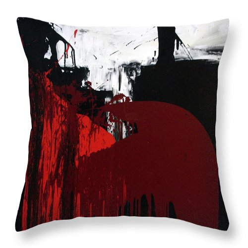 Abstract Paintings Throw Pillow featuring the painting O.T by Albert Kutzelnig