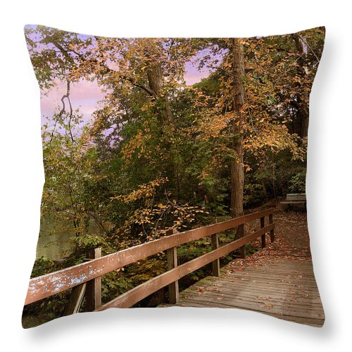 Nature Throw Pillow featuring the photograph Peaceful Repose by Jessica Jenney