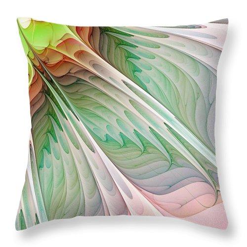 Digital Art Throw Pillow featuring the digital art Petals by Amanda Moore