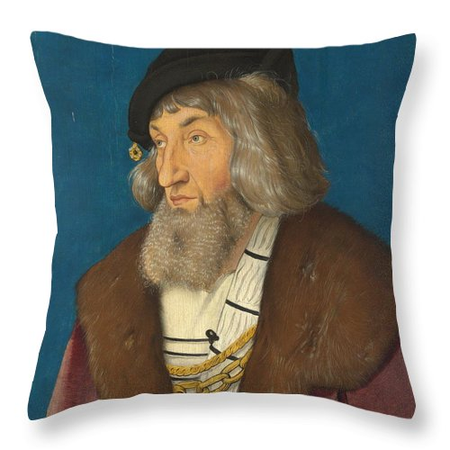 Bearded Throw Pillow featuring the painting Portrait Of A Man by Hans Baldung Grien