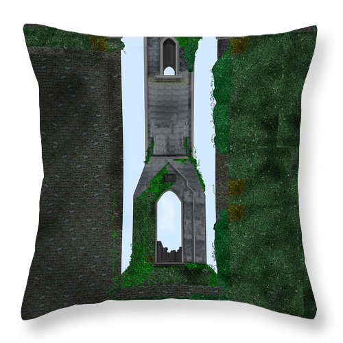 Ireland Throw Pillow featuring the painting Quint Arches In Ireland by Anne Norskog