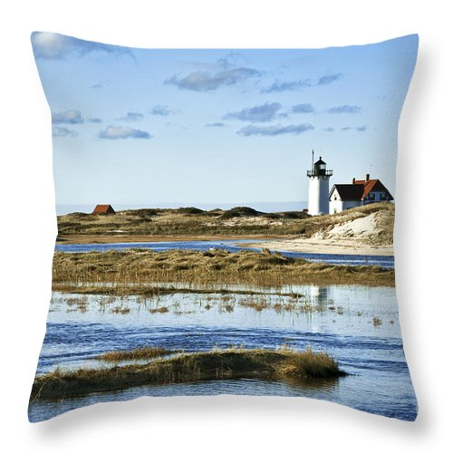 Cape Cod Throw Pillow featuring the photograph Race Point Lighthouse by John Greim