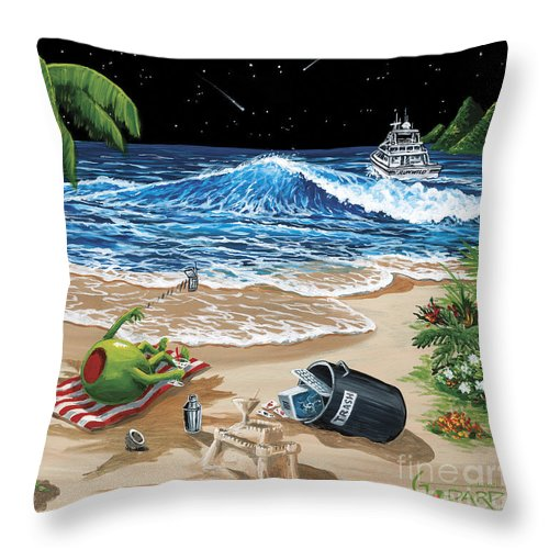 Rehab Throw Pillow featuring the painting Rehab by Michael Godard