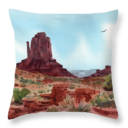 Right Mitten Throw Pillow featuring the painting Right Mitten by Donald Maier