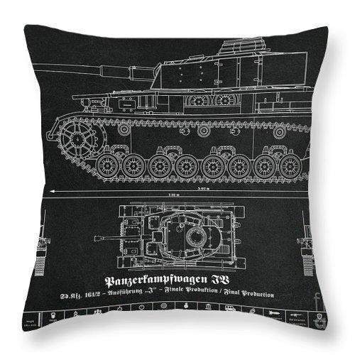 Sd Kfz 161 2 Panzerkampfwagen Iv Throw Pillow For Sale