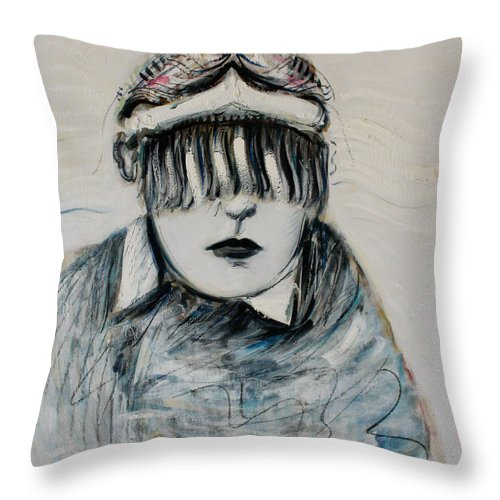 Shaman Throw Pillow featuring the painting Shaman by Alexander Carletti