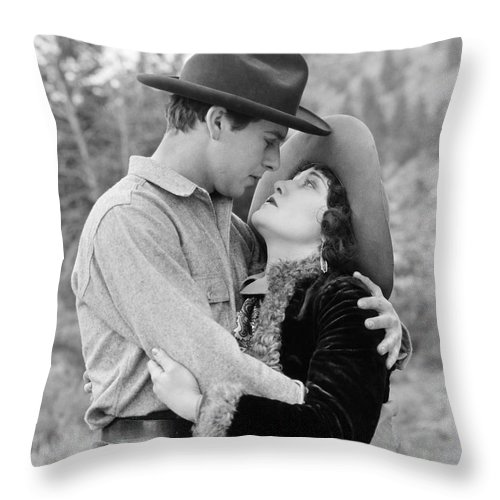 -kissing Hand- Throw Pillow featuring the photograph Silent Still: Hand Kissing by Granger