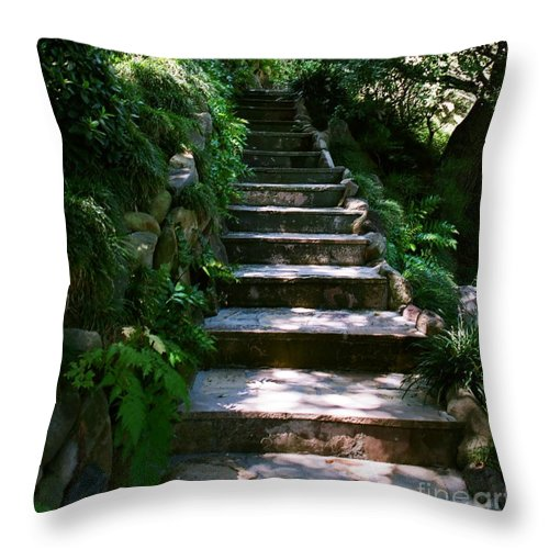 Nature Throw Pillow featuring the photograph Stone Steps by Dean Triolo