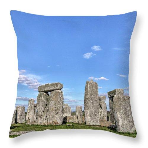 Stonehenge Throw Pillow featuring the photograph Stonehenge - England by Joana Kruse