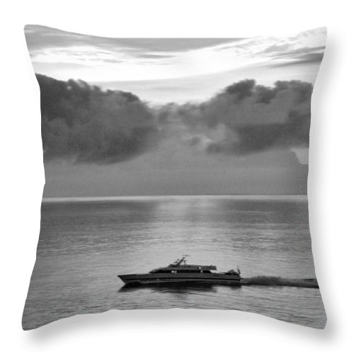 Boat Throw Pillow featuring the photograph Storm Coming by Helen Haw