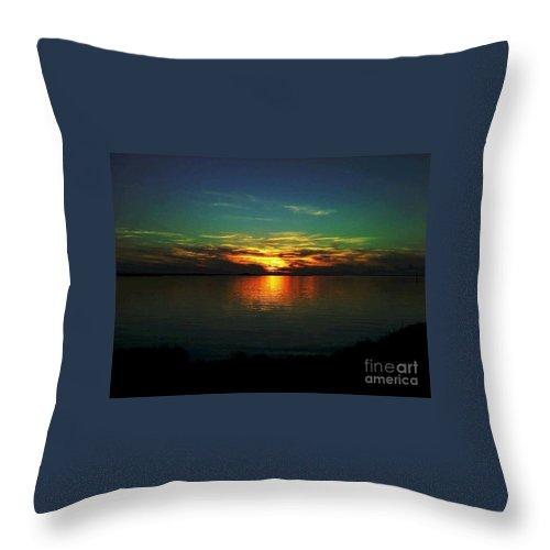 Sunset Throw Pillow featuring the digital art Sunset by Dawn Johansen