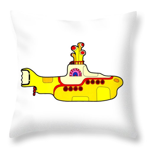 The Beatles Throw Pillow featuring the digital art The Beatles by Jofi Trazia