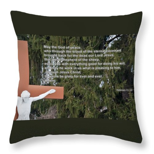 Easter Throw Pillow featuring the photograph The Cross by David Arment