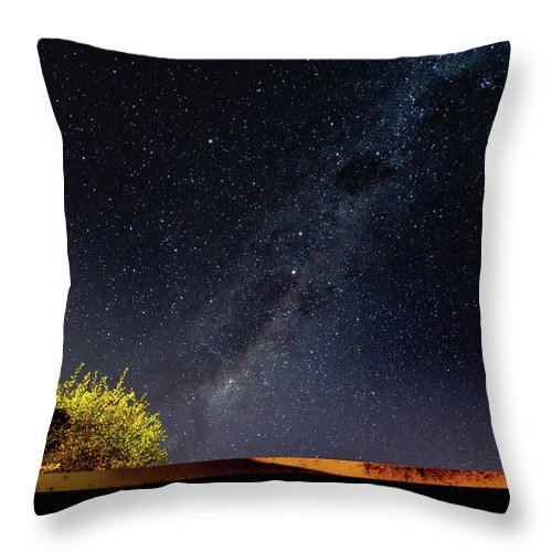 Astro Throw Pillow featuring the photograph The Milky Way by Merrillie Redden